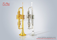 High grade Bb key Trumpet with cupronickel tuning pipe