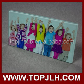 Sublimation full printing tempered glass photo frame