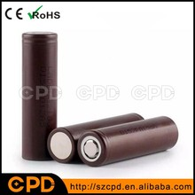Hot selling original LG battery 18650 li ion e cig battery 3000mah 3.7v rechargeable Li-Ion lithium battery LG HG2
