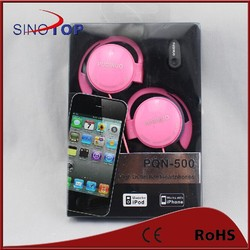 Sinotop noise canceling earphone color customized earbuds and sports hook earphone