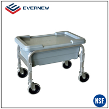 Custom aluminum mobile food transporting lug carts with four wheel