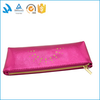 2015 most popular school leather round pencil case