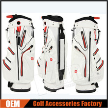 Custom Made 100% Waterproof Golf Caddie Bag/ Golf Cart Bags, 6 Way 9''