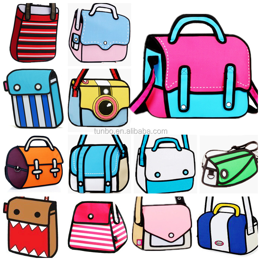 Wholesale new menghuo name brand 600D oxford cartoon girls school bag