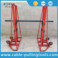 10T Hydraulic Cable Reel Carrier Cable Reel Lifting Stand