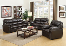 Sofa, Loveseat, Solid Wood Frame, Upholstery Synthetic Leather sofa