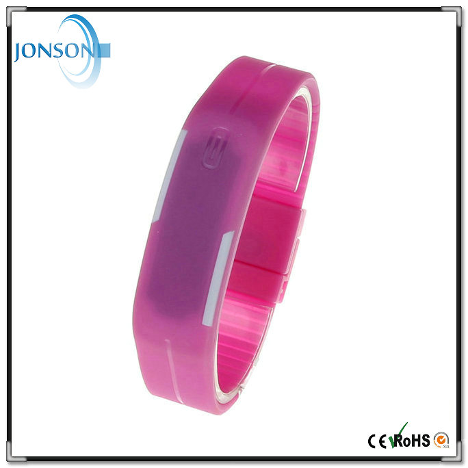 Promotional price silicone waterproof Japan movement women men weid led watch