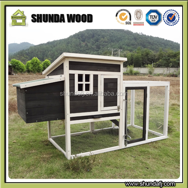 SDC011 Chinese Chicken Coop For Laying Hens With Outdoor Run