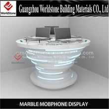 fashionable design mobiphone display/computer kiosk booth