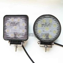wholesale off-road 4x4 led work light bar with stainless stent 12v led auto light m arine accessories 27w led work lamp
