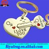 and key Arrow and a plus sign I love you forever wedding souvenirs METAL ZINC ALLOY heart shape couple key chain