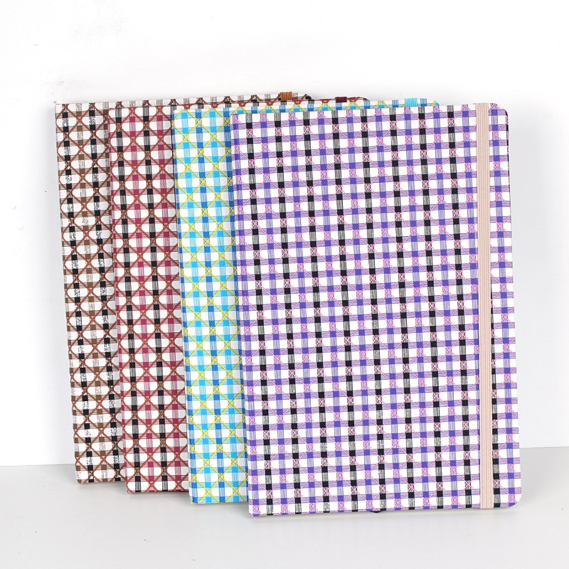 Xinghao promotional items made in china ready stock exercise a5 lattice patten hard-cover note book