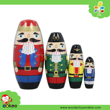 Hot sale exquisite art and craft lovely wooden Soldiers matryoshka doll