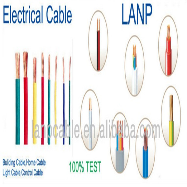 CU 3 core PVC electric wire cable China