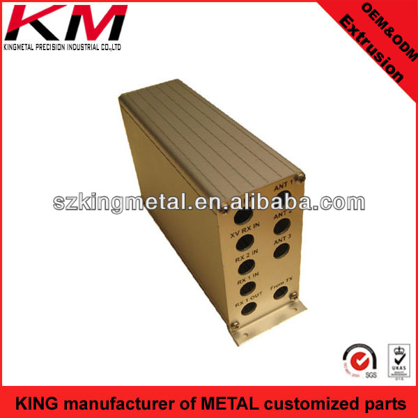 communication chasis aluminum extrusion boxes extruded frame