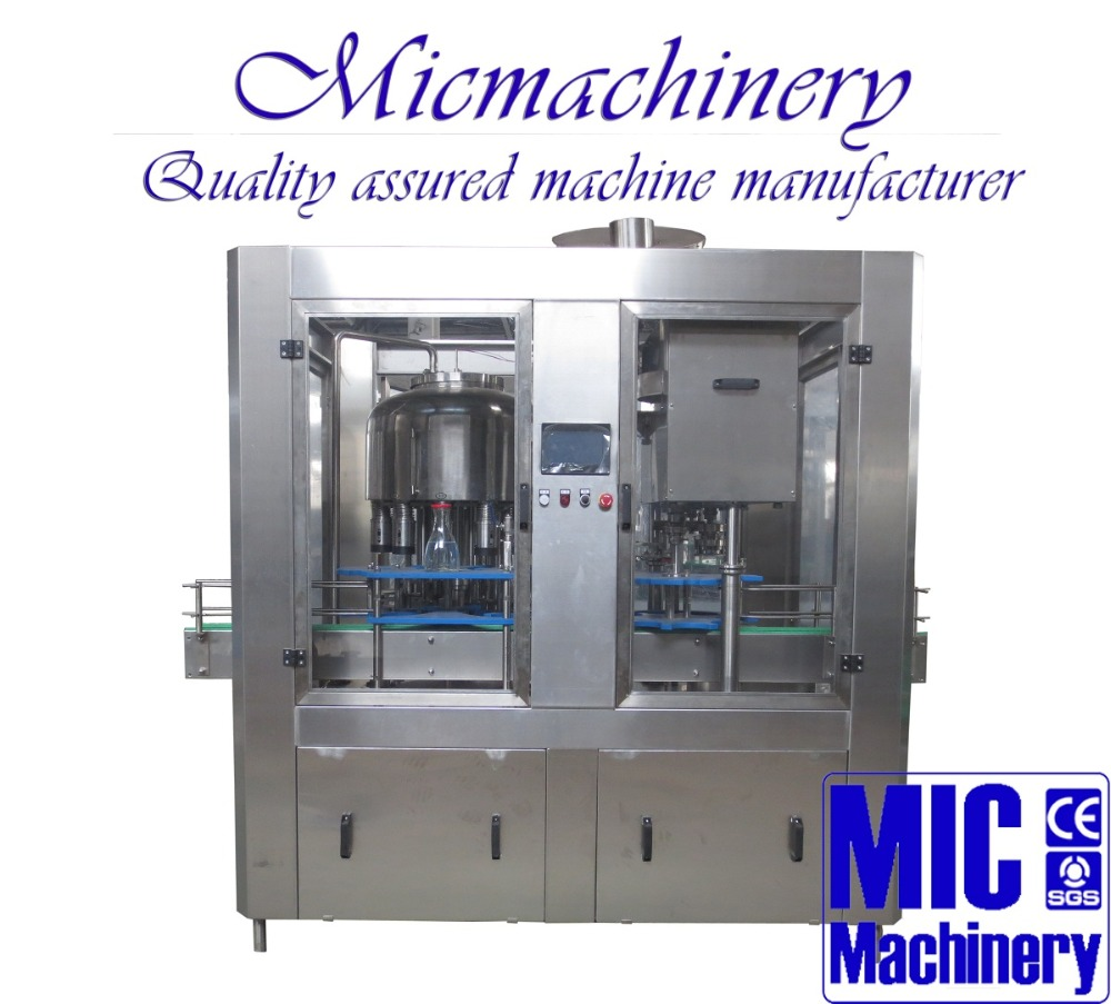MIC-12-1 Europe CE standard 1000-2500bph twist off Cap glass bottle non carbonated soda soft drink filling machine