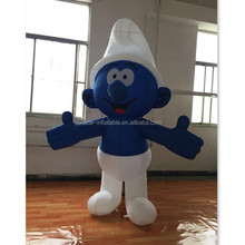 Cartoon Themed Event Advertising Inflatable Model Smurf Replica Customized A277
