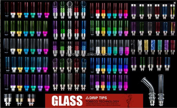 wide bore glass clear drip tips with many types best quality best price from tobeco