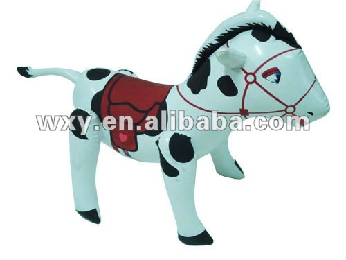 Lovely PVC Inflatable Toys Walking Horse Animal Toys, Child's Favorite Animal Toys