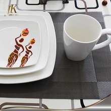 Square decorating dinner set, modern square table dinner set porcelain arcopal price