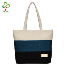 Wholesale simple design blank high quality stylish beach casual large canvas tote bag custom cotton