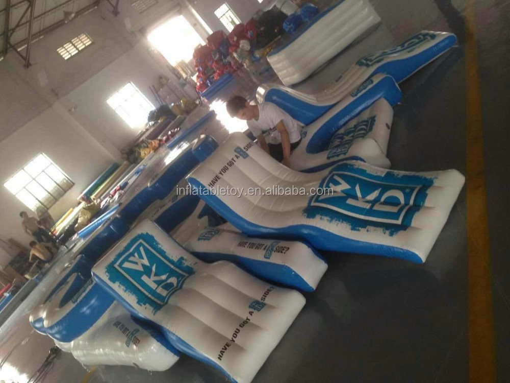 high quality Inflatable floating island/water floating lounge for adult