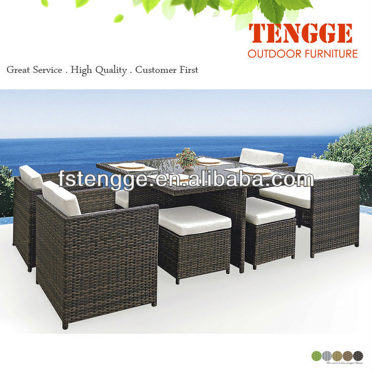outdoor dining rattan wicker table chairs