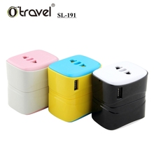 Premium and promotional gift set solutions China factory SL-191 single USB power plug travel adapter portable cell phone charger