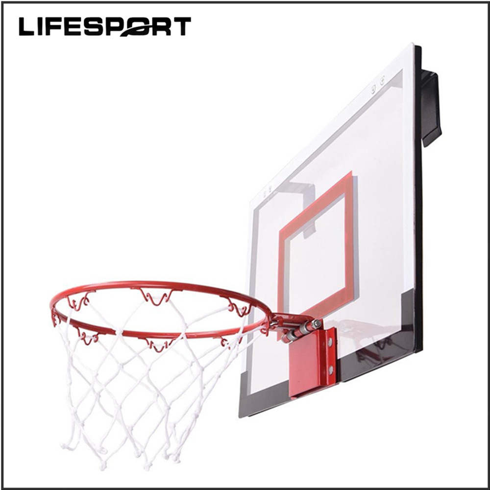 "Mini Basketball Set 18""*12"" Polycarbonate Backboard, 9"" Basketball Hoop, 5.5"" Ball"