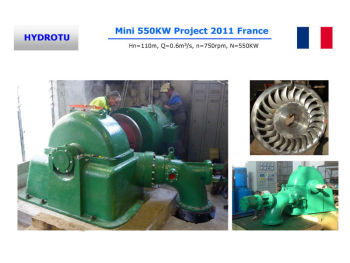 water Turgo turbine