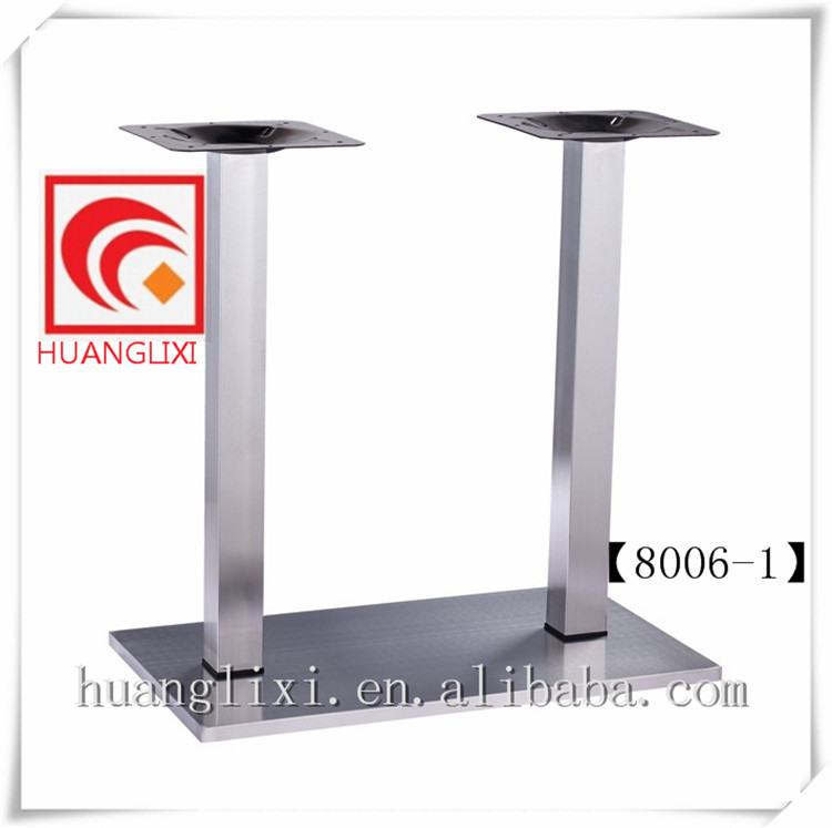 Stainless steel hotel furniture, stainless steel composite glue table feet, brushed stainless steel chassis