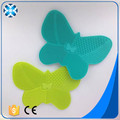 2017 New Design butterfly Silicone makeup brush cleaner silicone mat