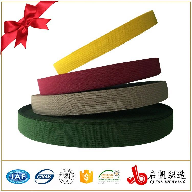 Colorful nylon knitted elastic webbing
