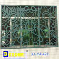 Metal aluminium perforated engraved decorative panel sheet for wall, fence, window