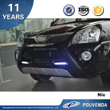 ABS Front Bumper For Hyundai Tucson 2013+ Front Bumper guard ( With LED Light) Auto accessories from pouven