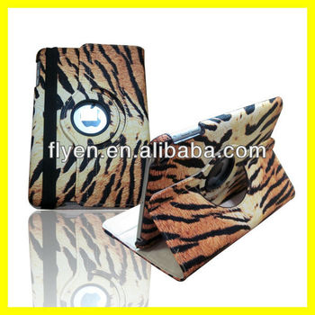 Deluxe Magnetic Rotating Smart Case For iPad mini Cover New TIGER Pattern Wholesale cheap lot Leather cases covers for iPad mini