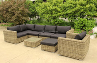 popular high-end patio furniture model 0599 5mm ROUND rattan