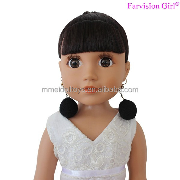 "Synthetic dolls maker vinyl doll custom 18"" educational doll"