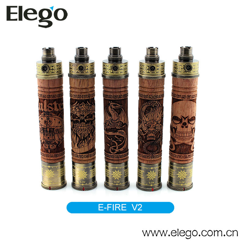 China Bulk Sale Vision Wooden Battery Kit E-Fire E Cig Mod Vision E Fire V2 Battery
