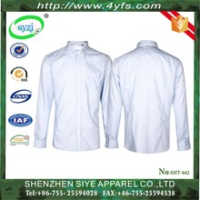 2016 new model 100% men's cotton dress shirt from chinese factory