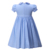 Pettigirl Latest fashion blue bishop casual smocked clothing girls dress