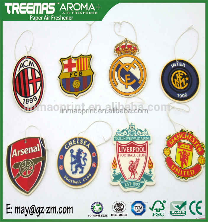Popular football team aromatics air freshener hanging in car zm233