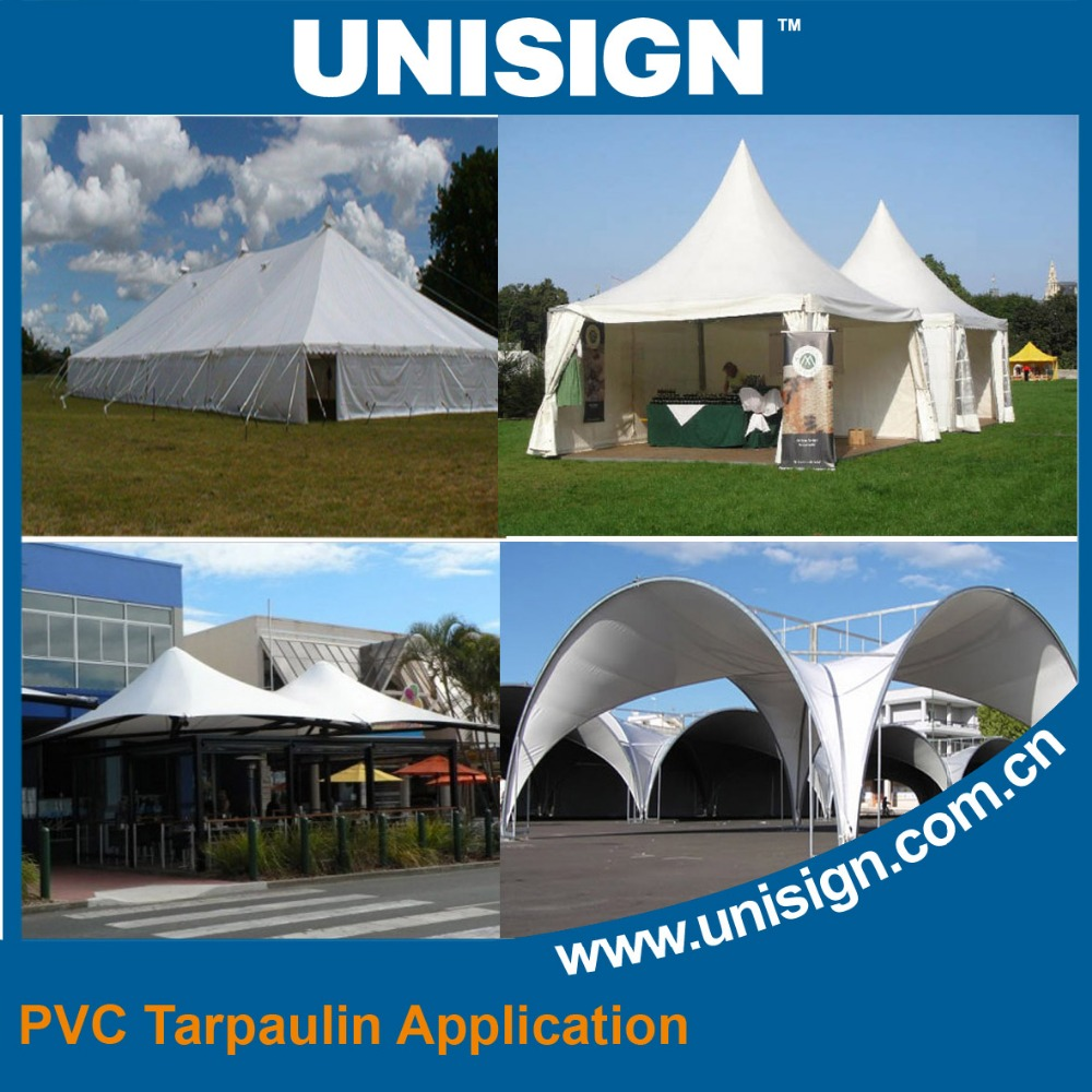 top quality waterproof pvc coated tarpaulin roll material for tent/marquee