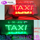 CE RoHS waterproof red green taxi top led display
