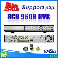 H.264 FULL D1 8CH DVR(HVR) with Cloud Technolog,digital voice recorder pen