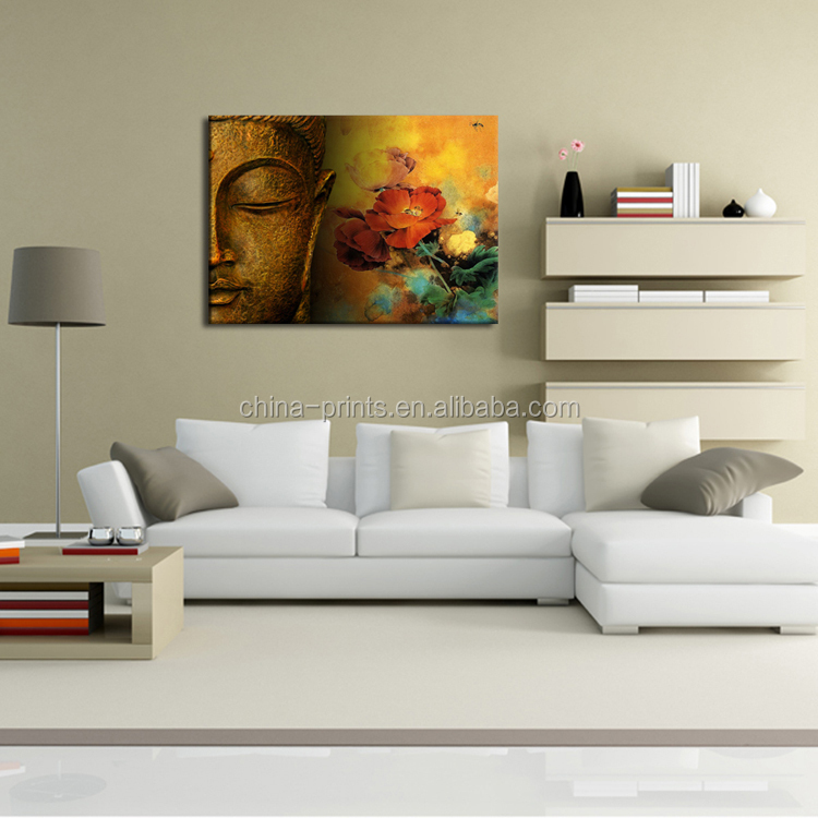 Modern Art Buddha Picture of Abstract Oil Painting
