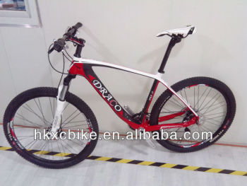 NEW Carbon fibre downhill mountain bike with Deore XT groupset specialized carbon mountain bike frame DRACO