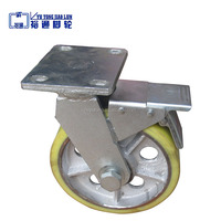 Factory direct sale industrial heavy duty casters, 1 ton load PU caster wheels