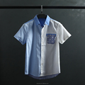 Fashionable men's shirt joint short sleeve cotton shirt OEM high quality shirt