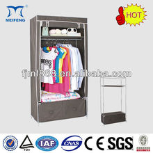 Home Furniture 16mm Portable Non-Woven Clothes Wardrobe Design with Drawers